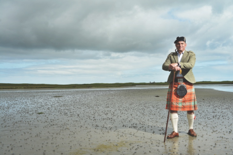 Ru Morrison at his Scottish home in North Uist.